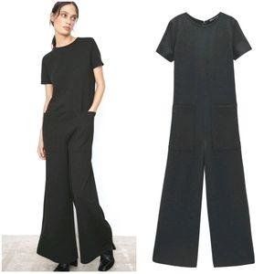 NWT ZARA | Long Wide Leg Pocket Jumpsuit